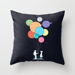 You are my universe (black) Throw Pillow