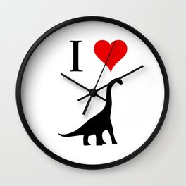 I Love Dinosaurs - Brachiosaurus Wall Clock