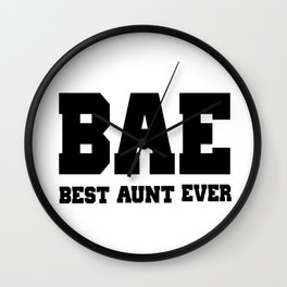 BAE Best Aunt Ever Wall Clock