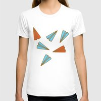 planes T-shirts featuring Paper Planes by evannave