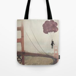 Floating over the Golden Gate Tote Bag