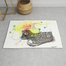 Converse Sneakers Painting Rug