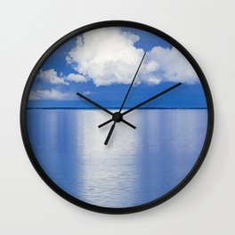Baltic Sea clouds Wall Clock