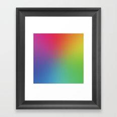 Rainbow Blur Framed Art Print