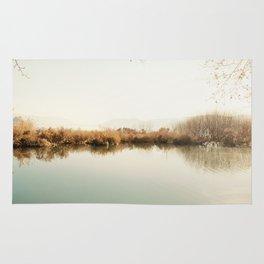 Autumn Lake Scene Rug