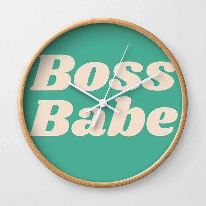 Retro Boss Green Wall Clock By Sweetgrpapercompany