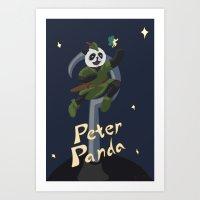 Peter Panda Art Print