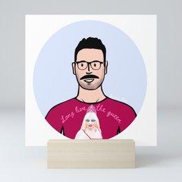 Beard Boy: Long Live The Queen Mini Art Print
