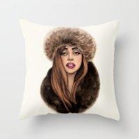 russian Throw Pillows featuring Russian Princess by Helen Green