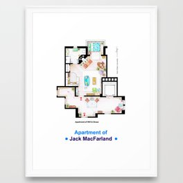 Jack MacFarland's apartment form 'Will and Grace' Framed Art Print