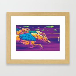 A Night at the Dogs Framed Art Print