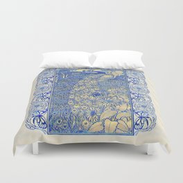 Garden Peacock Pair Duvet Cover