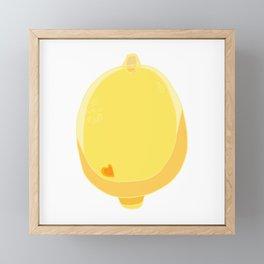 Such a Lemon Framed Mini Art Print