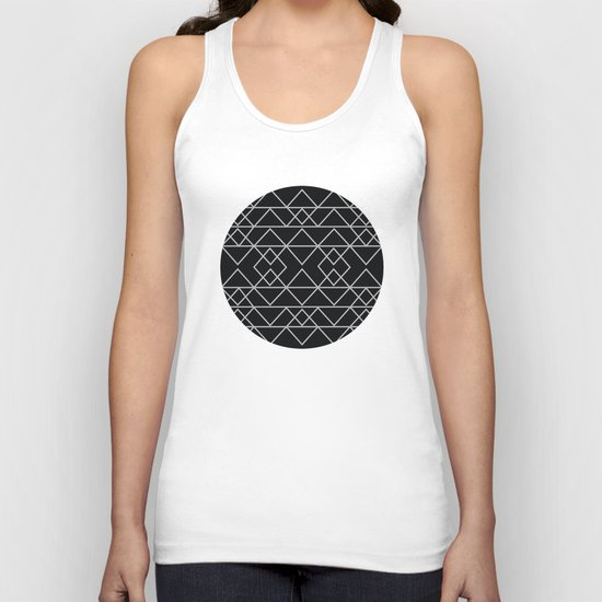 Triangles In Silver Unisex Tank Top
