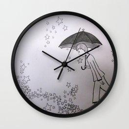 Walking on Stars Wall Clock