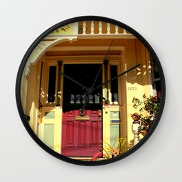 Stage Door - 1889 - No Soliciting Wall Clock
