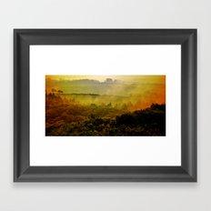Mist in the hills Framed Art Print
