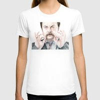 swanson T-shirts featuring Swanson Mustache by Olechka