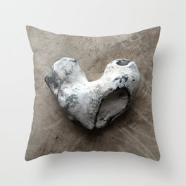 Stone Heart Throw Pillow
