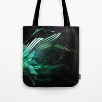 malachite Tote Bags featuring Malachite by Lea Gray Design