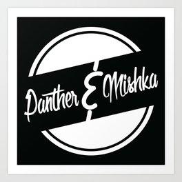 """Panther & Mishka """"Tippin"""" Logo Art Print"""