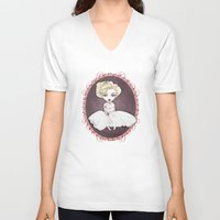 marylin monroe V-neck T-shirts featuring Sparkling Marylin by Zazie-bulles