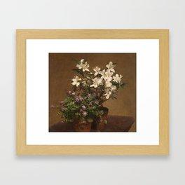 Henri Fantin Latour - Violetas Y Azaleas Framed Art Print