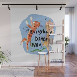 Everybody Dance Now! Lion, Tiger, Snake Jungle Dance Party Wall Mural