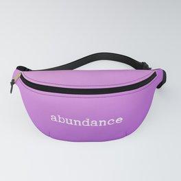 Inspirational positive vibes Abundance in rich purple hue Fanny Pack