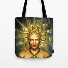Beautiful golden sun goddess Tote Bag