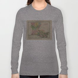 Vintage Map of Louisiana (1838) Long Sleeve T-shirt