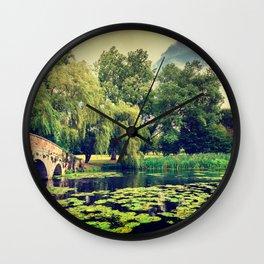 Zen Meditation Lily Pond Wall Clock