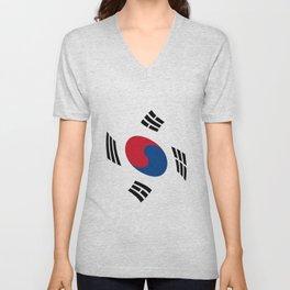 flag of south korea 2 -korea,asia, 서울특별시,부산광역시, 한국,seoul Unisex V-Neck