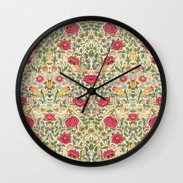 """William Morris """"Rose"""" Wall Clock"""