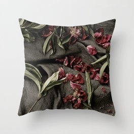 "Peonies are beautiful from the ""bud to to the end."" Throw Pillow"