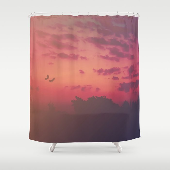 Love Runs Out Shower Curtain