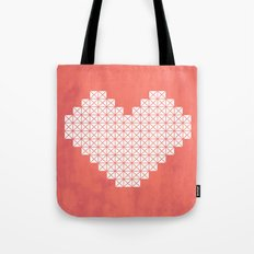 Heart X Red Tote Bag
