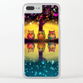owl-202 Clear iPhone Case