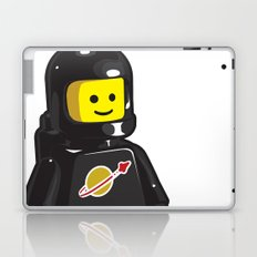 Vintage Lego Black Spaceman Minifig Laptop & iPad Skin