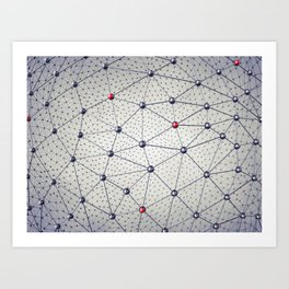 Cryptocurrency network Art Print