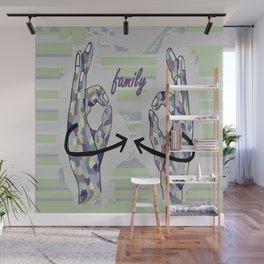 ASL Family in Denim Colors Wall Mural