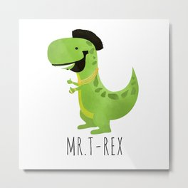 Mr. T-Rex Metal Print