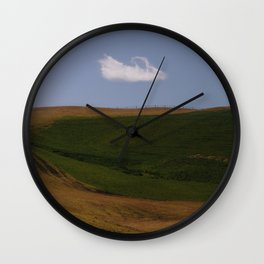 Endless Green in New Zealand Wall Clock