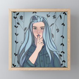 Whisper Secrets in the Garden Framed Mini Art Print