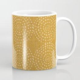 African, Spotted, Mudcloth, Mustard Yellow, Wall Art Boho Coffee Mug