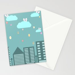 Easter town Stationery Cards