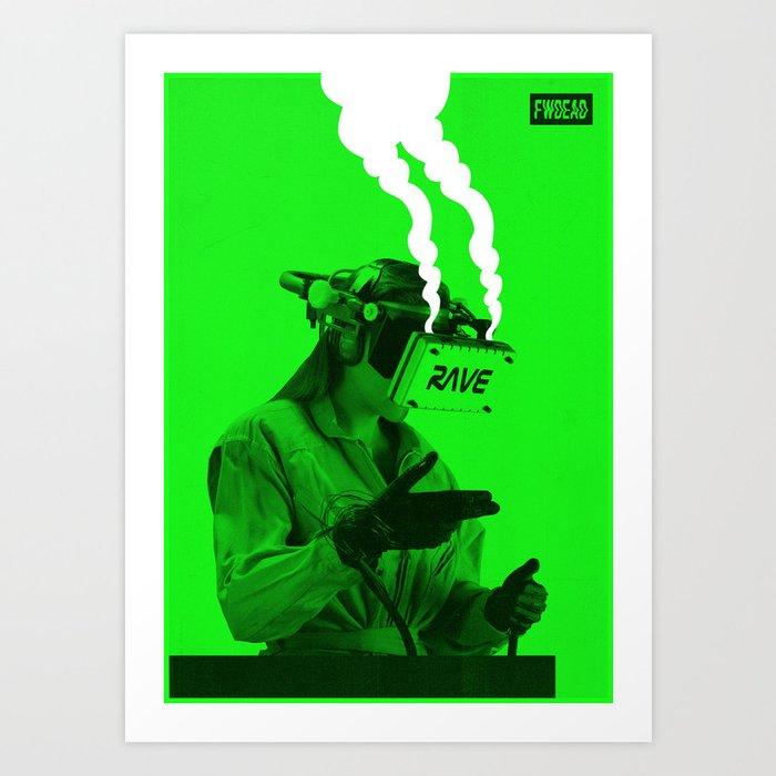 VR Rave Art Print