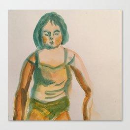 half formed girl Canvas Print