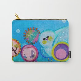 Birdy and the Dandies Mixed Media Painting Carry-All Pouch