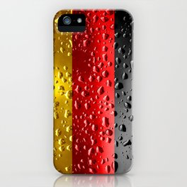 Flag of Germany - Raindrops iPhone Case